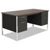 Alera Alera® Double Pedestal Steel Desk ALE SD6030BW