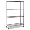 metal shelving units: Alera® Commercial Medium-Duty Wire Shelving Kit with Casters