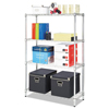 metal shelving units: Alera® Light-Duty Residential Wire Shelving Kit