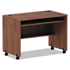 Desks & Workstations: Valencia Series Mobile Workstation Desk, 41.38 x 23.63 x 29.88, Mod Walnut