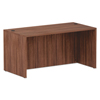 Desks & Workstations: Valencia Series Straight Front Desk Shell, 59.38x29.5x29.63, Mod Walnut