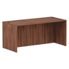 Desks & Workstations: Valencia Series Straight Front Desk Shell, 65 x 29.5 x 29.63, Mod Walnut