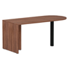 "Desks & Workstations: Valencia Series D-Top Desk, 65"" x 29.53"" x 29.53"", Modern Walnut"