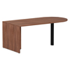 "Desks & Workstations: Valencia Series D-Top Desk, 71"" x 29.53"" x 29.53"", Modern Walnut"