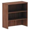 """Desks & Workstations: Valencia Series Hutch, 3 Compartments, 34"""" x 15"""" x 35 1/2"""", Modern Walnut"""