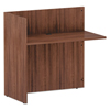 Desks & Workstations: Valencia Series Reversible Reception Return, 44 x 23.63 x 41.5, Mod Walnut