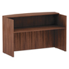 Desks & Workstations: Valencia Series Reception Desk w/Counter, 71 x 35 1/2 x 42 1/2, Mod Walnut