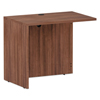 Desks & Workstations: Valencia Series Reversible Return/Bridge Shell, 35x23.63x29.63, Mod Walnut
