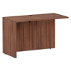 Desks & Workstations: Valencia Series Reversible Return/Bridge Shell, 47.25 x 23.63, Mod Walnut