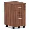 Ring Panel Link Filters Economy: Valencia Series Mobile Box/Box/File Pedestal, 15.88x20.5x28.38, Mod Walnut