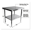 Tables: Alera® Stainless Steel Table