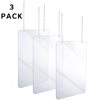 Alpine Hanging Acrylic Sneeze Guard ALP 410-2436-H-3