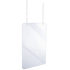 Alpine Hanging Acrylic Sneeze Guard ALP 410-2436-H