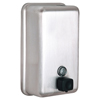 soaps and hand sanitizers: Alpine - Manual Surface-Mounted Stainless Steel Liquid Soap Dispenser