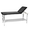 Alpine AdirMed Adjustable Exam Table with Wooden Shelf and Paper Dispenser ALP 996-02-BLK