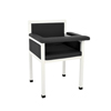 Alpine AdirMed Luxe Upholstered Blood Drawing Chair Designed for Style, Patient Comfort ALP 997-02-BLK