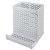 Artistic Artistic® Urban Collection Punched Metal Pencil Cup with Cell Phone Stand AOP ART20014WH