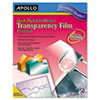 Apollo: Apollo® Universal Quick-Dry Inkjet Printer Transparency Film