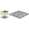 Arrow Sheds Base Kit for 10x12, 10x13, & 10x14 Bldgs ARR FDN1014