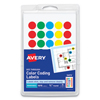 avery: Avery® Round Assorted Removable See-Through Color Dots