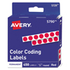 Avery Avery® Permanent Self-Adhesive Round Color-Coding Labels AVE 05790