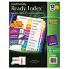 Binder Accessories Sheet Hole Reinforcements: Avery® EcoFriendly Ready Index® Table of Contents Dividers