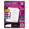 avery: Avery® Ready Index® Classic Black & White Table of Contents Dividers