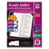 Clean and Green: Avery® Ready Index® Customizable Table of Contents