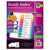 Clean and Green: Avery® Ready Index® Contemporary Multicolor Table of Contents Dividers
