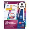 Avery Avery® Ready Index® Contemporary Multicolor Table of Contents Dividers AVE 11196