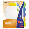 Janitorial Carts, Trucks, and Utility Carts: Avery® Style Edge Insertable Tab Reference Dividers
