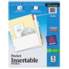 avery: Avery® WorkSaver® Pocket Dividers with Insertable Tabs