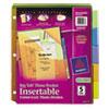 avery: Avery® Big Tab™ 3-Pocket Insertable Corner Lock™ Plastic Dividers
