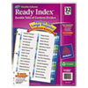 Binder Accessories Sheet Hole Reinforcements: Avery® Ready Index® Double-Column Table of Contents Dividers