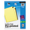 avery: Avery® Reinforced Preprinted Red Leather Tab Dividers