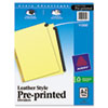 avery: Avery® Black Leather Pre-Printed Dividers
