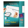 Index Maker Dividers