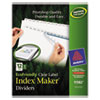 Clean and Green: Avery® EcoFriendly Index Maker® Label Dividers, Clear