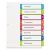 Avery Avery® Ready Index® Customizable Table of Contents Multicolor Dividers AVE 11841