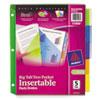 avery: Avery® Big Tab™ 2-Pocket Insertable Plastic Dividers