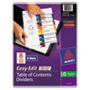 Clean and Green: Avery® Ready Index® Easy Edit Multicolor Table of Contents Dividers