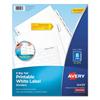 avery: Avery® Big Tab White Label Tab Dividers