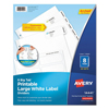 avery: Avery® Big Tab Large White Label Tab Dividers