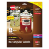 Avery Avery® Rectangle Removable Durable TrueBlock® Labels AVE 22827