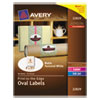 Avery Avery® Oval Easy Peel® Labels AVE 22829