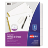 Labels, Stamps, Index Dividers: Avery® Big Tab™ Write-On Dividers with Erasable Laminated Tabs