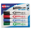 markers: Avery® Marks-A-Lot® Dry Erase Marker