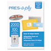 Avery Avery® PRES-a-ply Mailing Labels AVE 30601