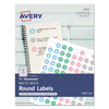 Avery Avery® Printable Self-Adhesive Permanent 3/4 Round ID Labels AVE 4221