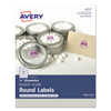 Avery Avery® Printable Self-Adhesive Permanent 3/4 Round ID Labels AVE 4222